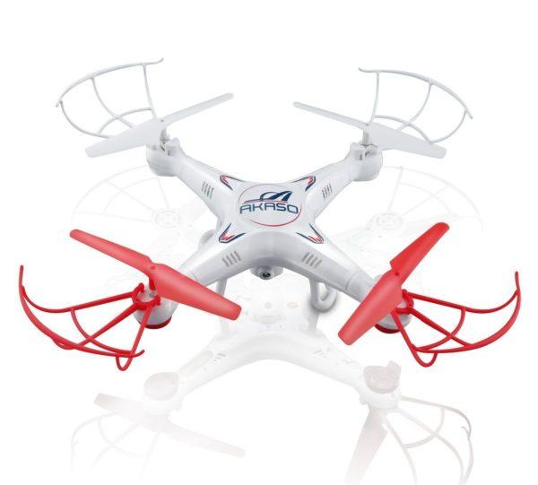 AKASO X5C 4 CH 2,4 GHz 6-Achsen Fernbedienung Quadcopter mit HD Kamera und MicroSD Karte – Drohne für YouTube Videos
