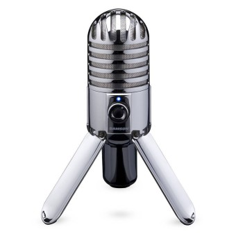 Samson Meteor Mic USB Studio / Podcast / Let's Play Mikrofon in silber