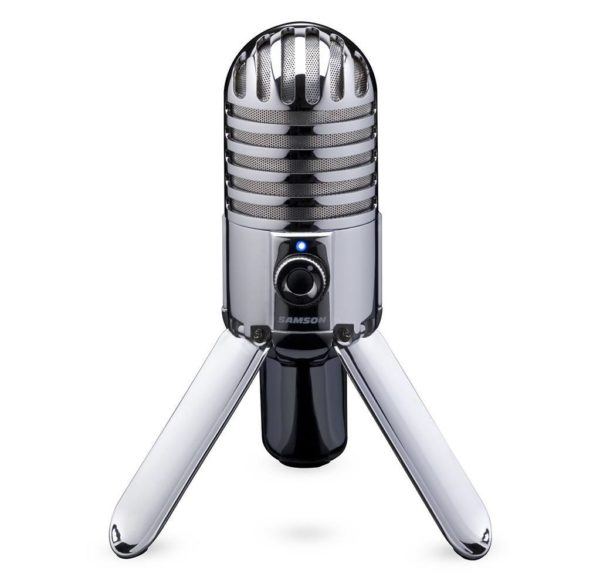 Samson Meteor Mic USB Studio  Podcast  Let's Play Mikrofon in silber