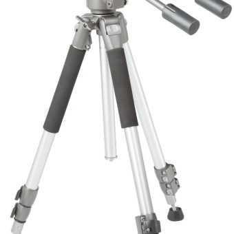 AmazonBasics Videokamera-Stativ, höhenverstellbar bis 170 cm Kamera Stativ für YouTuber YouTube Videos Foto Fotos
