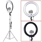 Neewer Professionelle Kamera Video Ringleuchte Ringlicht 18″Aussen 14″Innen (75W 5500K) Fluoreszenz YouTube