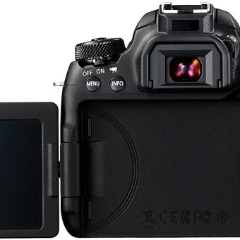 Canon EOS 77D SLR-Digitalkamera (24,2 MP, 7,7 cm (3 Zoll) Display, APS-C CMOS Sensor, Full HD) schwarz 2