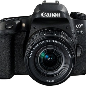 Canon EOS 77D SLR-Digitalkamera (24,2 MP, 7,7 cm (3 Zoll) Display, APS-C CMOS Sensor, Full HD) schwarz