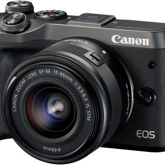 Canon EOS M6 Systemkamera (24,2 Megapixel, 7,62 cm (3 Zoll), APS-C CMOS-Sensor, Full-HD) schwarz