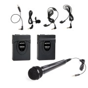 Movo WMIC60 2.4GHz kabeloses Lavalier Handmikrofon mit integrierter Antenne mit 164-Fuß Reichweite youtuber youtube Mikrofon