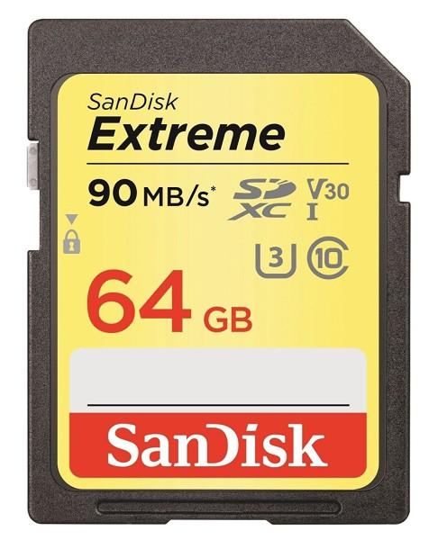 SanDisk Extreme 64 GB SD Speicher Karte Schnell