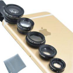 Smartphone Objektive Handylinsen für YouTube Videos Fischaugenobjektiv + Weitwinkel + Mikroobjektiv + 2X EXT Barlow + CPL Polfilter
